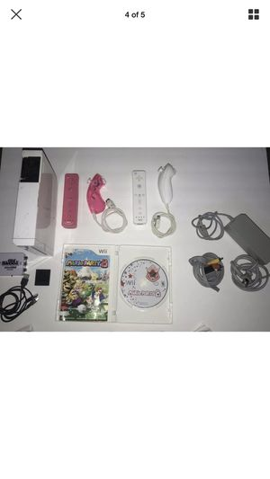 Nintendo Wii Bundle W Mario Party 8 + 2 Controllers & Memory Card + HDMI Converter for Sale in El Segundo, CA