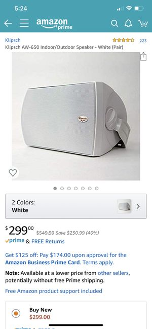 Klipsch AW-650 Speakers for Sale in Portland, OR