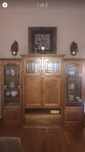 3 piece wall unit in oak for Sale in West Linn, OR