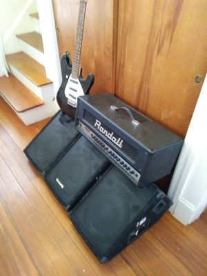 RH200 Randall guitar amp speakers and guitar for Sale in Providence, RI