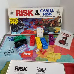Risk World Conquest & Castle Risk European Conquest 2 Games In One Age 10+ 0042 for Sale in Bartlett, IL