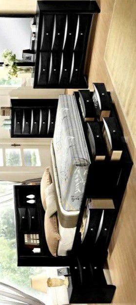 SPECIAL] Emily Black Storage Platform Bedroom Set 🚚SAME DAY DELIVERY /ın stock for Sale in Silver Spring, MD