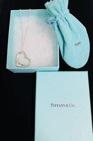 Tiffany & Co. Elsa Peretti heart necklace pendant 925 silver for Sale in Tustin, CA