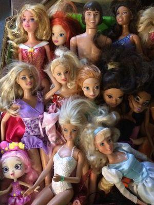 Toy various barbie doll disney princess ken shoppie anna frozen brats monster high salvage for Sale in Walkersville, MD