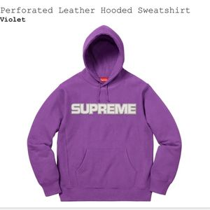 """Supreme """"preforated leather"""" hoodie for Sale in Houston, TX"""