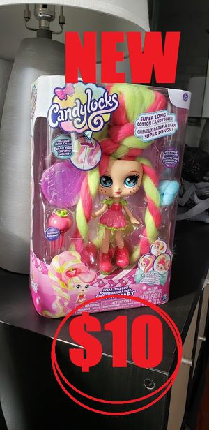 New Candylocks Barbie Doll with Dreads hair. Smells like strawberries and has 12 inches of super soft cotton candy hair. Brand new for Sale in Ventura, CA