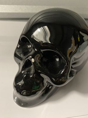 Black Skull Head Collectible Skeleton Decoration Statue for Sale in Azusa, CA