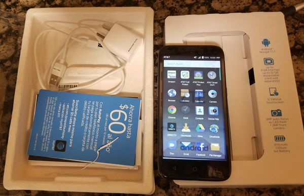 AT&T 4G Black Android ZTE Maven 3 (Z835). 8GB Memory. Locked