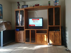 Good condition entertainment center has glad shelves for Sale in El Mirage, AZ