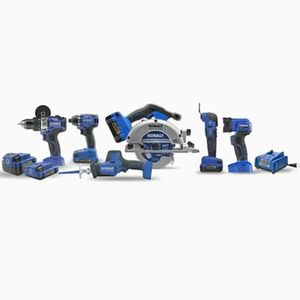 Kobalt 24V max 6-Tool 24-Volt Max Brushless Power Tool Combo Kit (Charger Included and 2-Batteries Inclu for Sale in Hollywood, FL