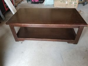 Dark Wood Rolling Coffee Table for Sale in Snohomish, WA