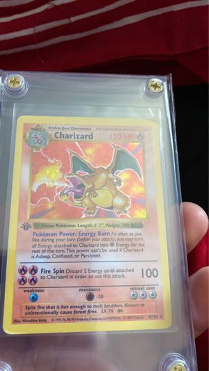 Shadowless Charizard 1st edition for Sale in Compton, CA