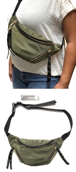 Brand NEW! Olive Green Crossbody/Shoulder/Side Bag/Pouch/Fanny Pack For Traveling/Everyday Use/Work/Parties/Gifts $20 for Sale in Carson, CA