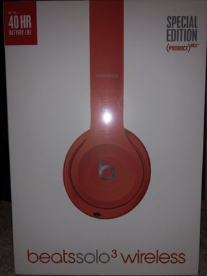 Beats Solo 3 Special Edition Red for Sale in Salt Lake City, UT