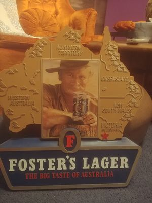 Foster's Lager vintage advertisement sign for Sale in Gibsonia, PA