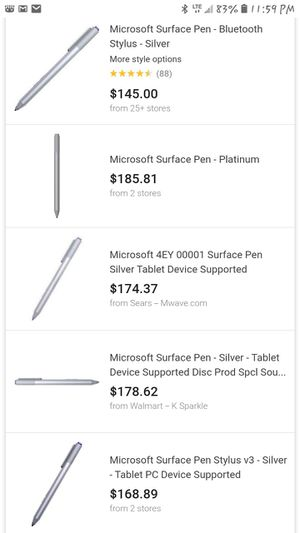 Microsoft Surface Pen Silver for Sale in Fircrest, WA