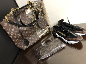 Louis vuiton bag shoes and wallet for Sale in Warren, MI
