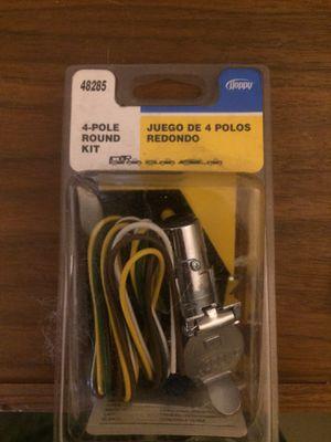 New Trailer plug 4 pole round plug for Sale in Chicago, IL