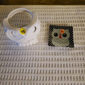 Porcelain Owl/ Glass Tray for Sale in Portsmouth, VA