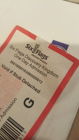 One Ticket to Six~Flags Fright Fest in Vallejo.. $40 for Sale in Castro Valley, CA