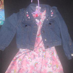 Girls Unicorn Dress And Jacket for Sale in Salisbury, MD