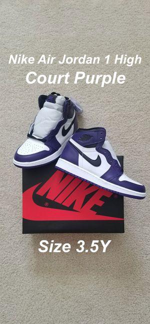 Nike Air Jordan 1 High Court Purple 3.5 Y for Sale in Norwalk, CA