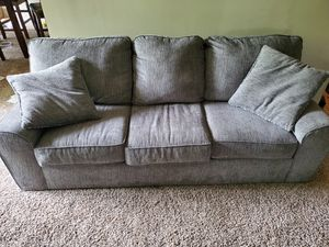 Gray comfy couch for Sale in Gaithersburg, MD
