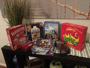 Popular Modern and Strategy Board Game Lot Snake Oil, Cards Against Humanity, Carcassonne, Exploding Kittens, and more! for Sale in Chantilly, VA