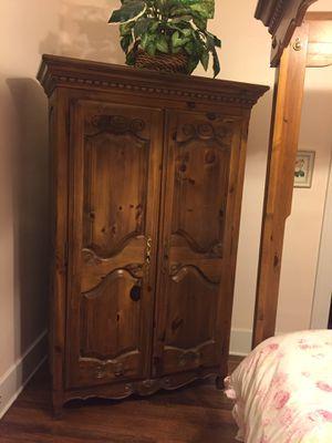 Ethan Allen armoire wardrobe lots of storage for Sale in Detroit, MI