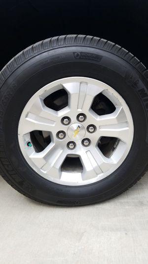 chevy silverado 6 lug rims with Michelin tires for Sale in Arcadia, CA