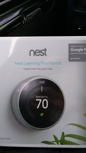 NEST Learning Thermostat for Sale in Fife, WA