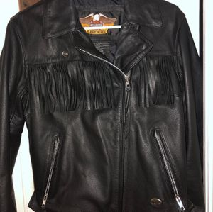 Vintage Harley-Davidson jacket women's black leather motorcycle jacket. for Sale in Oakland Park, FL