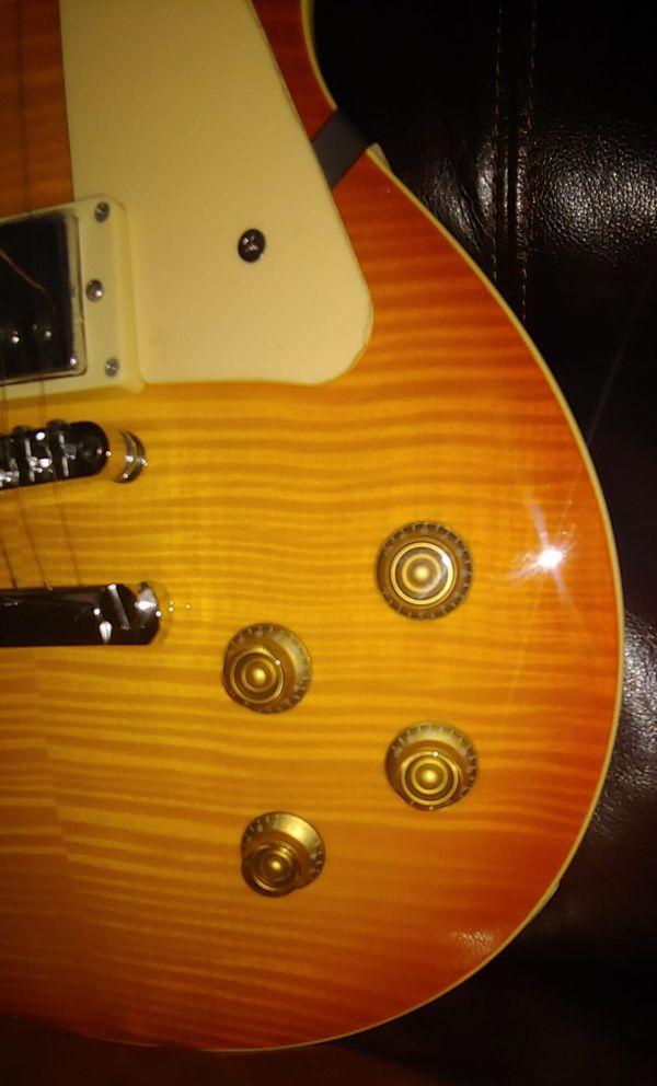 Beautiful Aria Pro II Blitz Leopard Les Paul Style Electric Guitar.