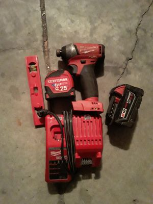 Milwaukee impact drill/charger(2) batteries for Sale in Charlotte, NC