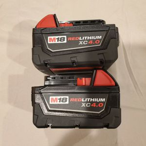 Milwaukee M18 Xc Baterias 4.0 for Sale in Los Angeles, CA