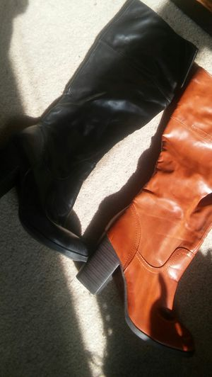 chunky heel boots new. Size 11 womans Also have the caramel shade as well size10 black for $40 or both for $60 for Sale in Washington, DC