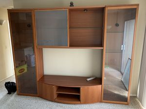 Solid wood 4piece entertainment center for Sale in Sacramento, CA