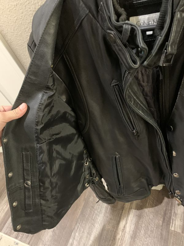 Harley Leather Jacket And Vest Motorcycles