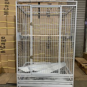 """Extra Large Play Top Parrot Cage White 36"""" X 26"""" X 68""""H for Sale in City of Industry, CA"""