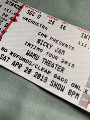 2 Nicky jam concert tickets for Sale in Kent, WA