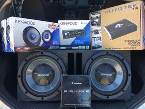 Car Audio Bundle Lot (box with 2 12's, radio, amp, speakers, tweeter) for Sale in Allen, TX