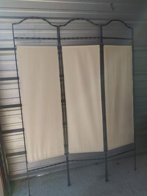 Metal and cloth divider. 3 panel. Foldable. for Sale in Keller, TX