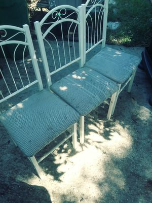3 metal. Chairs for Sale in Houston, TX