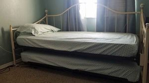 Twin bed with pull out with mattress for Sale in Huntington Beach, CA