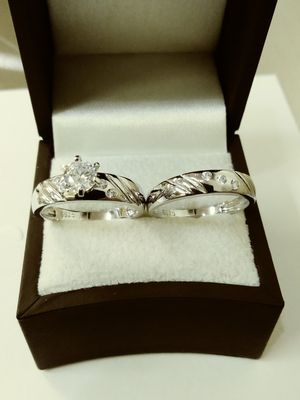 New with tag Solid 925 Sterling Silver ENGAGEMENT WEDDING Ring Set size 6 or 7 $150 each set OR BEST OFFER for Sale in Scottsdale, AZ
