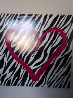 Heart Zebra Print Picture 🖼️ for Sale in Kuna,  ID