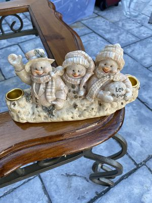 Cute Snowman candle holder for Sale in Hollywood, FL