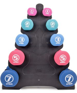 5-tier stand for hand weight dumbbells, pre-assembled for Sale in Vancouver, WA