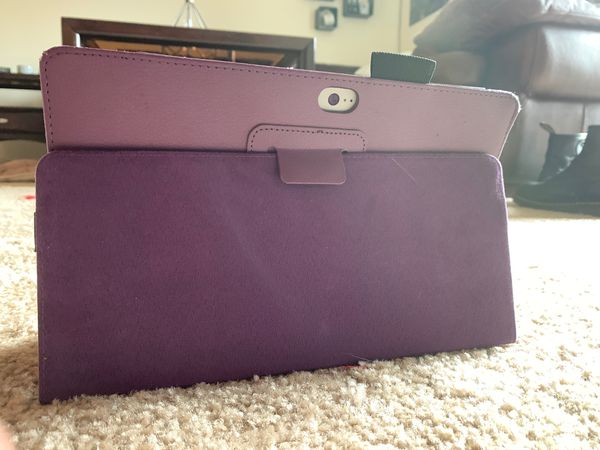 Microsoft Surface 2 with Purple Keyboard and Case