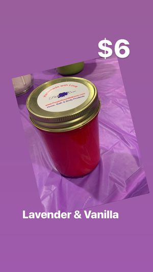 Red Handmade Candle for Sale in Chillum, MD